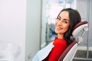 happy, relaxed dental patient free from dental anxiety