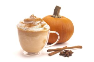 Pumpkin spice latte, a hot drink that can damage teeth