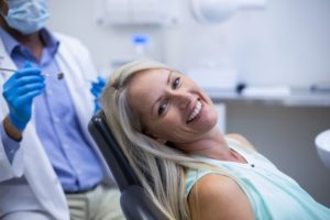 Dental patient glad she didn't skip a dental cleaning
